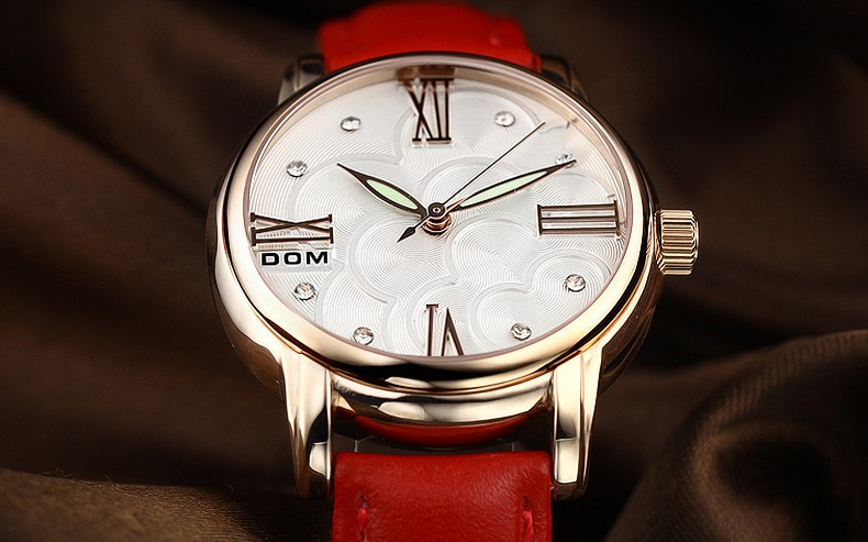 DOM Quartz Women Watches Top Brand Luxury 2016 Wristwatch Female Clock Waterproof Wrist Watch Lady Montre Femme Relogio Feminino