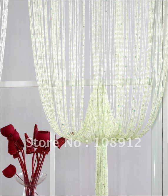 ready made curtains string curtain accent color light
