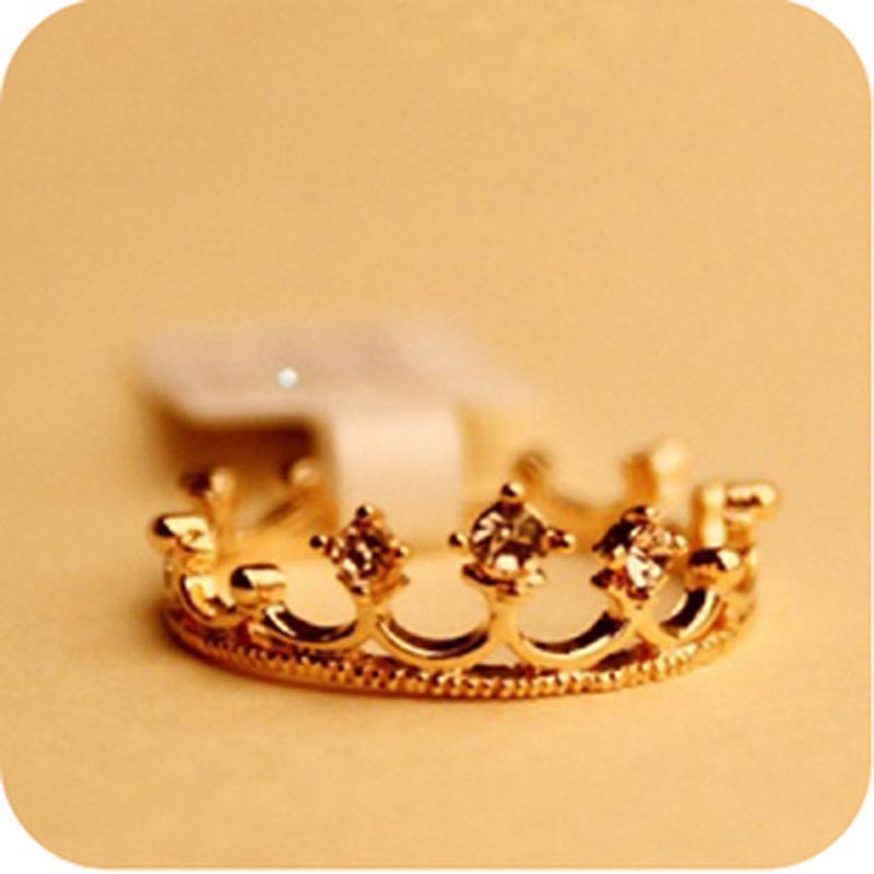 crown rings new fashion sale wholesale 18k gold plated