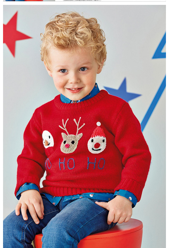 New 2015 Children Sweater England Style Brand Baby Boys Girl Winter O-neck Knitted Christmas Sweater Kids Knitwear(China (Mainland))