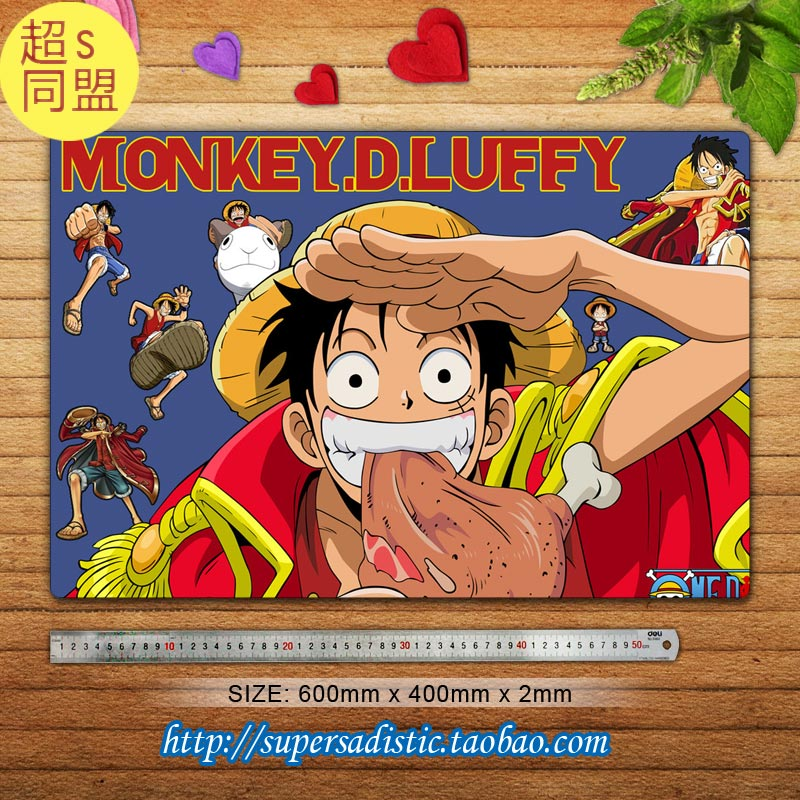 One Piece Anime Characters (Monkey D. Luffy 4) Large Gaming Mouse Pad Desk & Table Play Mat Custom Mouse Pad(China (Mainland))