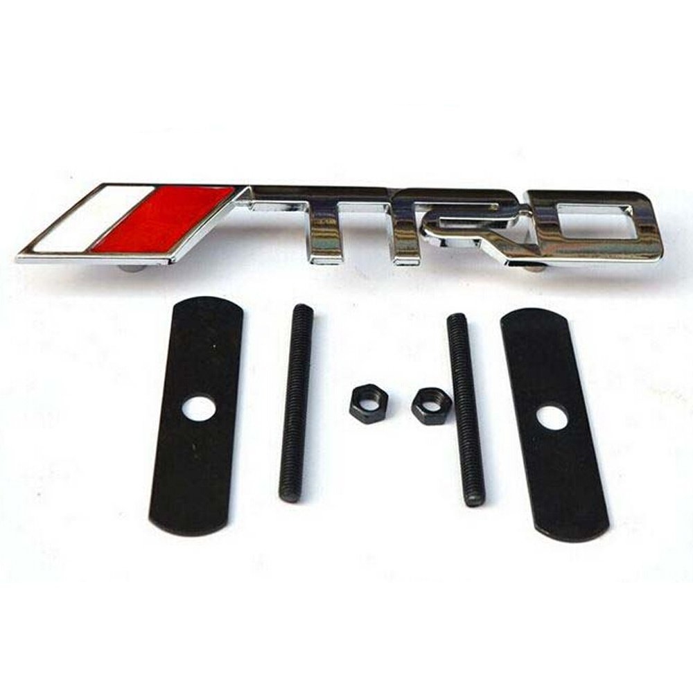 3D Chrome Finished TRD Front Grill Metal Badge Logo Emblem for Toyota Camry Corolla Scion Celica MR2 Supra GT 86 Supra Yaris(China (Mainland))