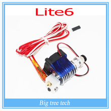 3D printer Lite6 Full Kit – 1.75mm Universal with Bowden with Single Cooling Fan 1.75/3.0mm Direct Filament Wade Extruder Nozzle