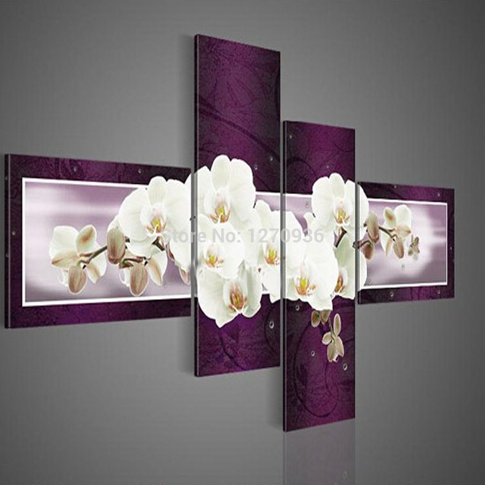 w wholesale white orchid painting