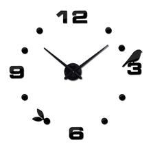 2016 new sale home decorations 3d Acrylic mirror stickers clocks Quartz Needle living room diy wall clock watch free shipping(China (Mainland))