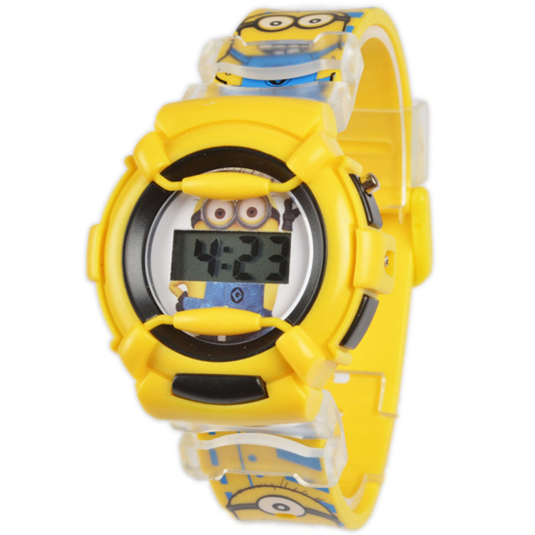 Minion kids watch 3d cartoon watches despicable me cute children watches digital watch montre for Despicable watches