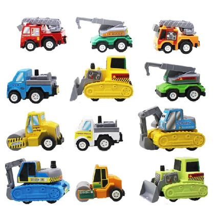 12pcs Mini Baby Pull Back Eco-friendly Child Kids Plastic Engineering Truck Diecast Car Toy(China (Mainland))