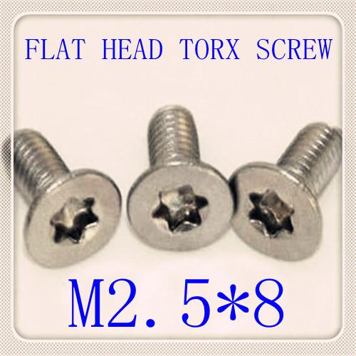 500pcs/lot Factory Direct Stainless Steel 304 M2.5*8 Flat Head Torx Screw<br><br>Aliexpress