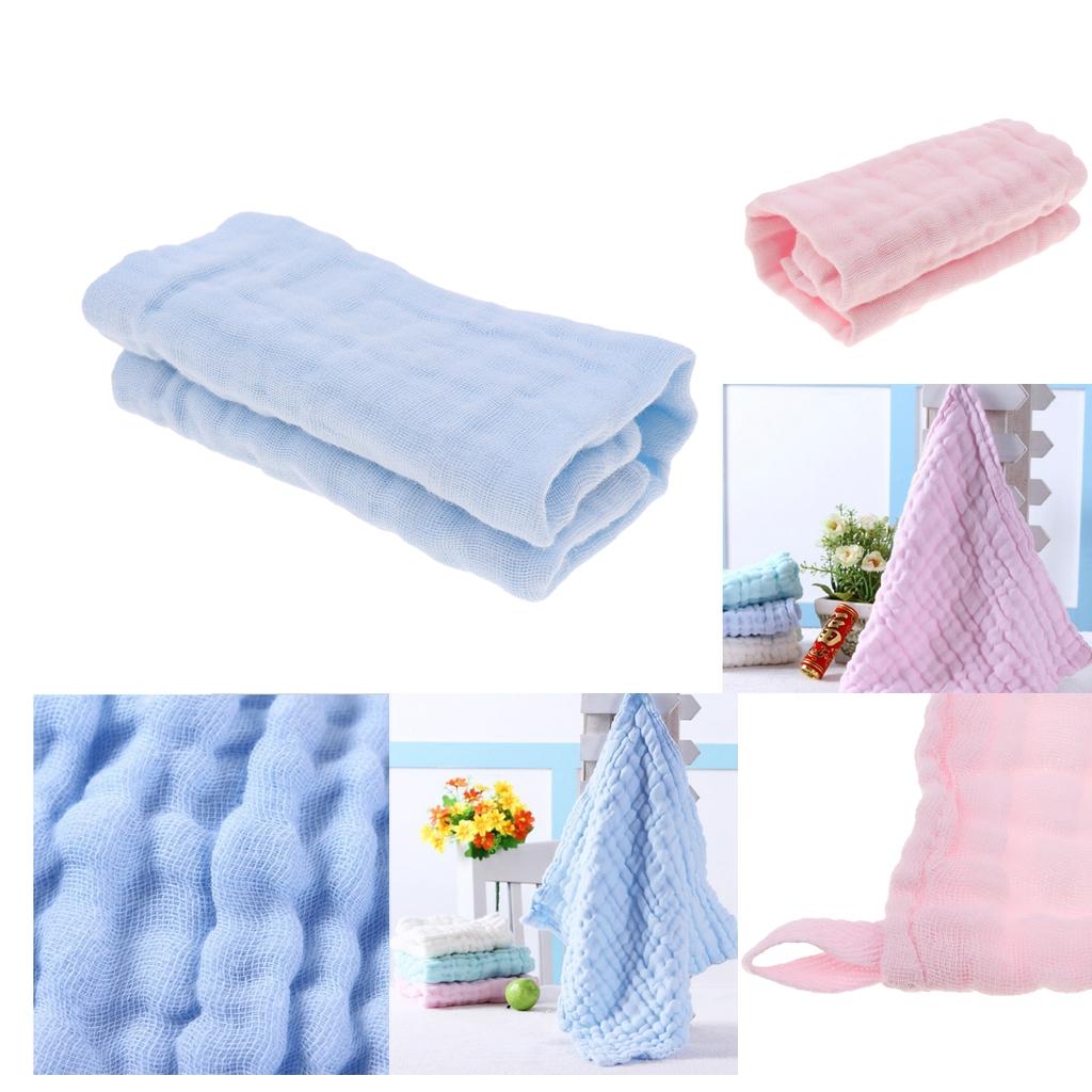 2 Pcs Baby Handkerchief Gauze Nursing Towel Clean Infants Feeding Towels