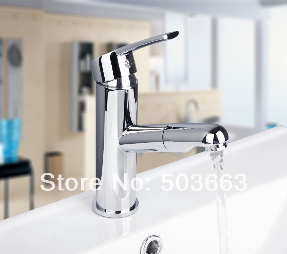 Modern Wholesale And Retail Chrome Solid Brass Water Power Kitchen Faucet Swi