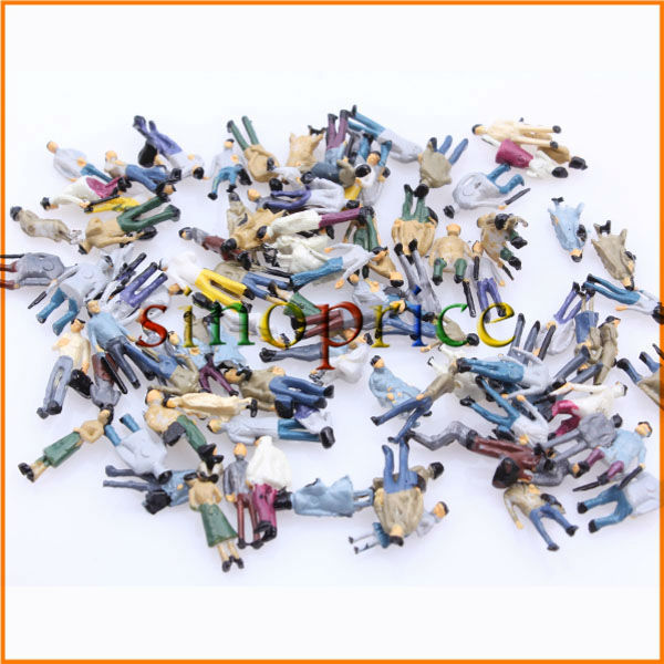 100 Miniatures Model 1:150 Scale N Gauge People for DIY Figure Layout Free Shipping(China (Mainland))