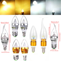 LED Lamp E14 LED Candle Light 3w 5w 7w 9w 12w Led Bulb SMD 5730 AC 220V 240V Golden Aluminum LED Candle Bulb Cool Warm White