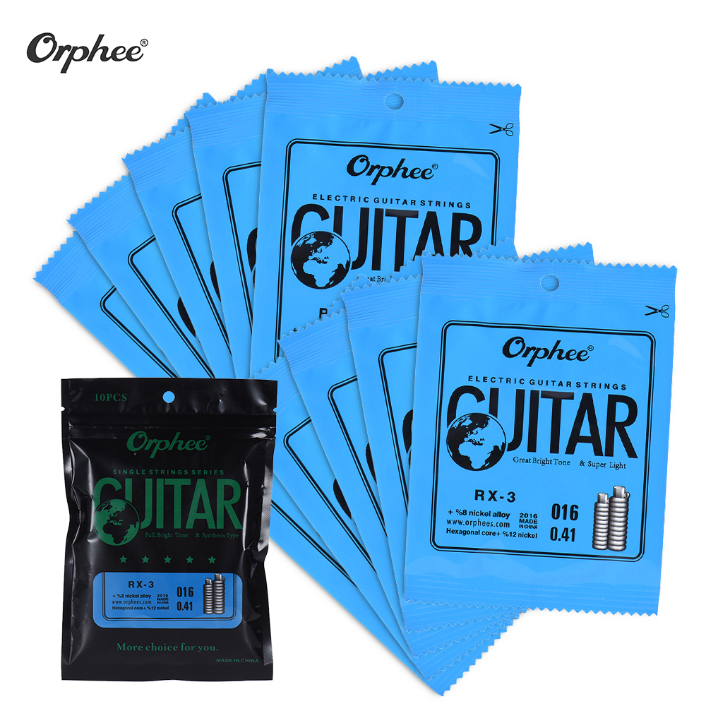 Orphee RX-1 Single Guitar String for Electric Guitar 1st E/ 2nd B/ 3rd G-String (.009) 10-Pack Nickel Alloy Super Light Tension(China (Mainland))