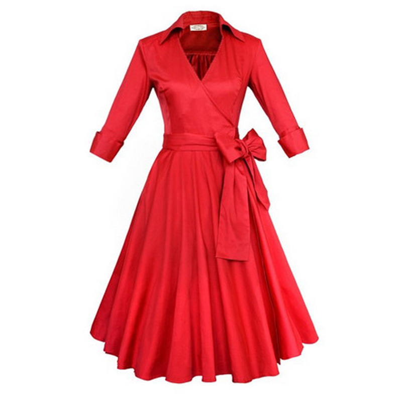 Autumn winter audrey 39 hepburn style 1950s 60s vintage for 50 s pin up wedding dresses