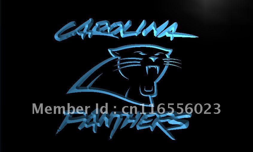 LD066- Carolina Panthers Super Bowl Bar LED Neon Light Sign home decor crafts(China (Mainland))