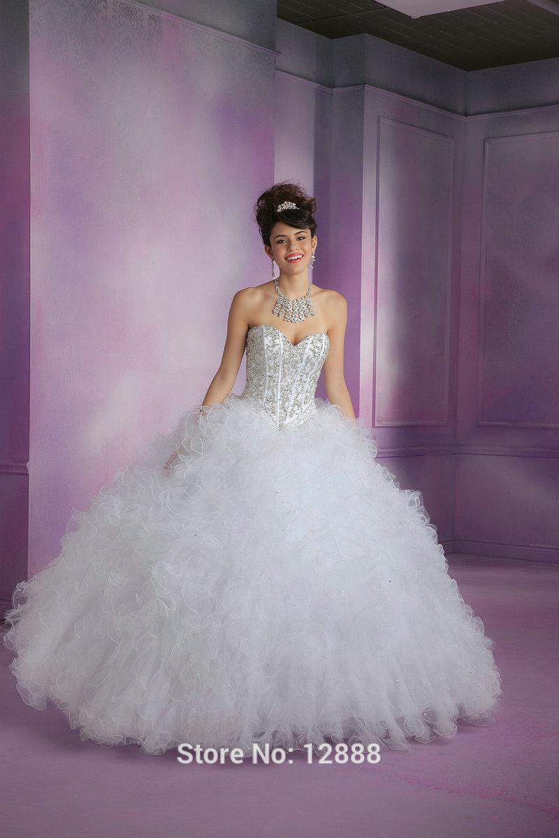 Vestidos para quinceañeras tul corto chaqueta de manga vestido de quinceañera baile vestidos blanco rosa Aqua en Vestidos de quinceañera de Bodas y Eventos