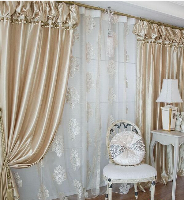 top quality korean lanterns head curtain champagne color bedroom