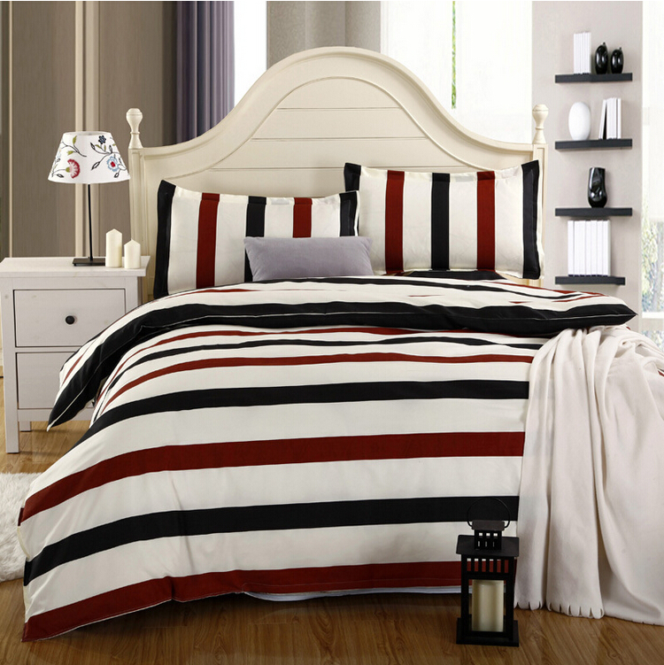 Hot Sale Reactive Print 4pcs Bedding Sets Luxury Include Duvet Cover Bed Sheet Pillowcase King