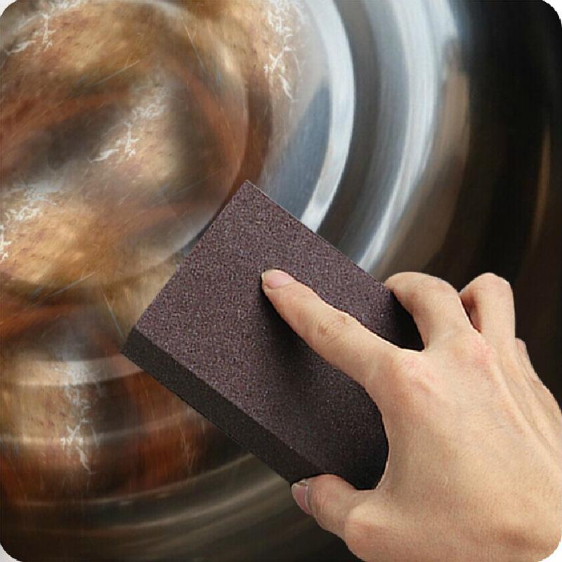 Nano Carborundum Descaling Cleaning Kitchen Multipurpose Magic Pot Stains Erase Fine Sand Sponge(China (Mainland))