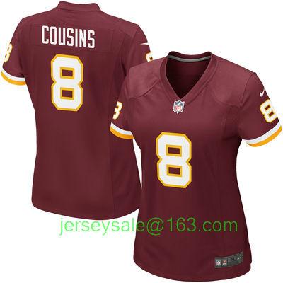 2016 Women Washington Redskins #8 Kirk Cousins embroideried Logo Burgundy #11 Desean Jackson 44 John Riggins(China (Mainland))