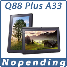 NEW 2015 Q88 Plus Android Tablet PC Allwinner A33 7′ Android4.4 Quad Core 1.5GHz 512MB+4GB Dual Camera BT WIFI Tablet Brands OTG