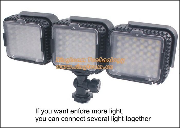 3Sets/Lot LUX480 CN-LUX480 LED Light 48 LEDs Wedding Lamp Photographic Lighting for News Media Camera Camcorder DV NanGuan(China (Mainland))