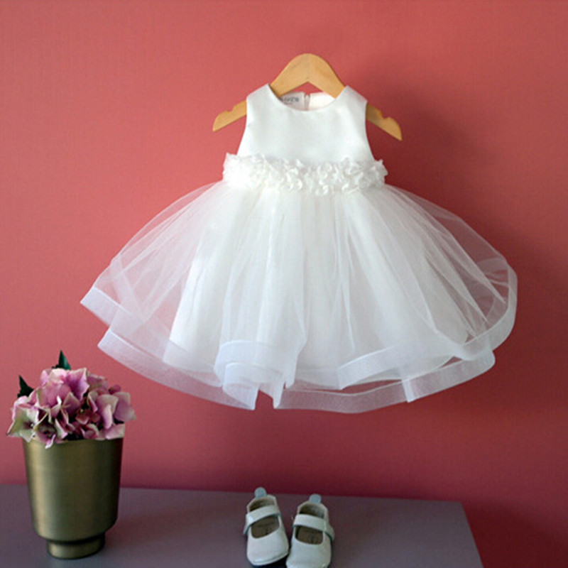One Year Old Newborn Baby Girl Dress Wedding Baptism Baby