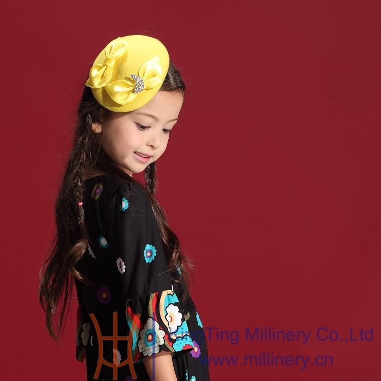 Скидки на Новый Дизайн 2014 Зима Осень Милые Девушки Конкурс Головные Уборы Желтый Цветок Девушка Свадьба Аксессуары Для Волос