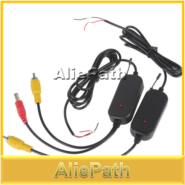 2.4G Wireless Color RCA Video Transmitter Sender and Receiver Kit for Vehicle Car Rearview Monitor DVD to Reverse Camera(China (Mainland))