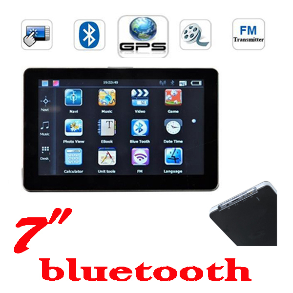 BY DHL OR EMS 30 pieces no profit  hot sell HD 800*480 7 inch GPS Navigator with FM BT&AVIN 4GB load new 3D map 128M 256mb 8gb