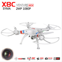 SYMA X8C professional drone With camera RC quadcopter with camera HD 2.4G 4CH drone with camera HD 2MP flying camera helicopter