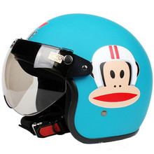 Fashion Halley EVO half helmet,electric bicycle Open face helmets,Cartoon monkey Julius,Women's Motorcycle helmet(China (Mainland))
