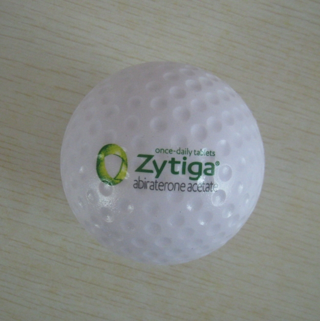 6.0cmdia OEM pu foam material pu golf stressball, golf toy,promotion gifts,in printing your logo 50pcs/lot(China (Mainland))