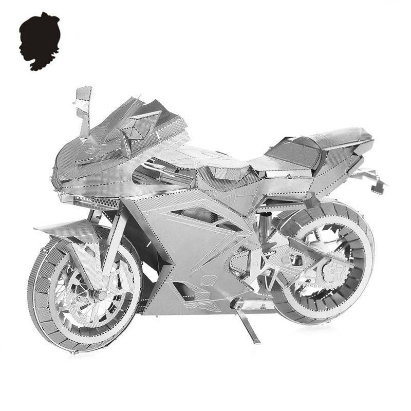 MOTORCYCLE II Classic collection 3D puzzle Metal assembly model Intelligence toys DIY Creative imagination 9 inc 2 sheets(China (Mainland))