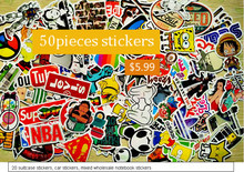50Pcs Home decor jdm car sticker on car styling laptop sticker decal motorcycle skateboard doodle stickers for car accessories