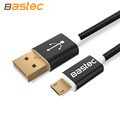 Bastec 2016 Nylon Line and Metal Plug Micro USB Cable for iPhone 6 6s Plus 5s