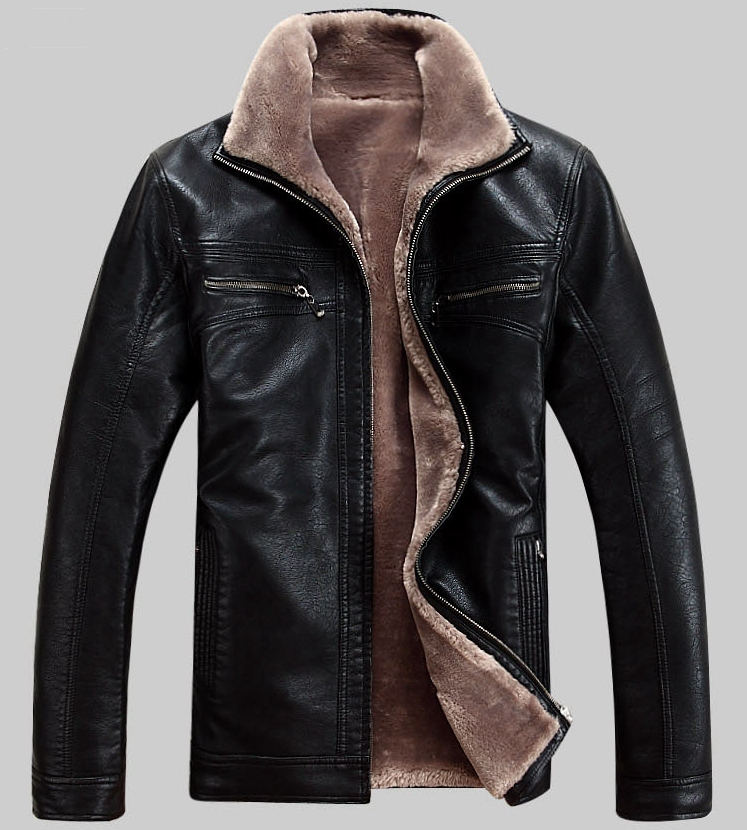 Hot!! Men's brand luxury fur sheep leather men's coat warm winter jacket,M-5XL - T Y HUI's store