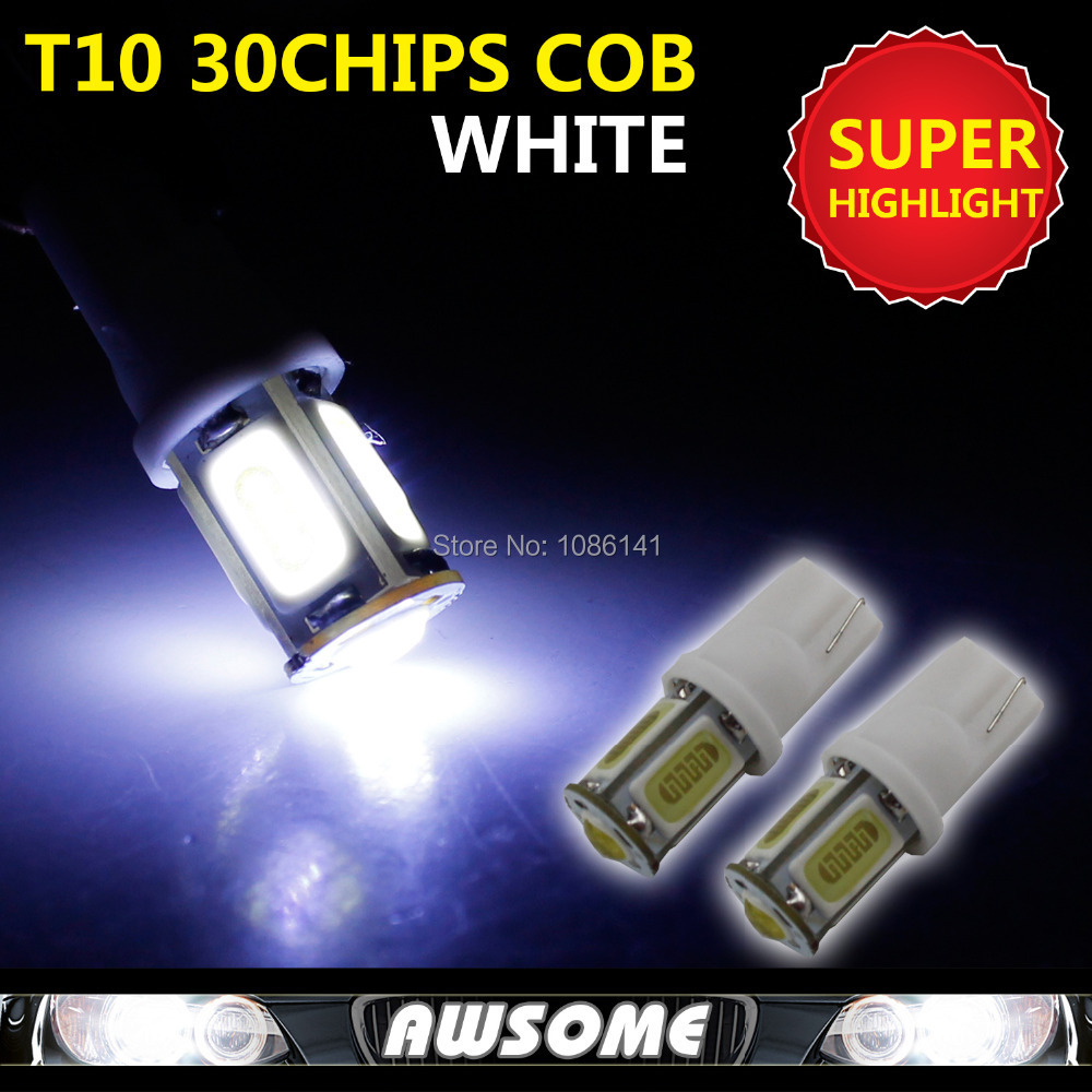 new stylel 10x t10 cob w5w 30chips super bright led car interior dome license plate light. Black Bedroom Furniture Sets. Home Design Ideas