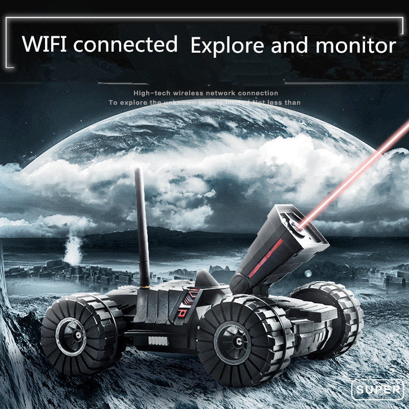 Armored Rc cars Wifi Camera monitor Rc tank toys w/ 0.3 MP camera Android IOS APP controlled Rc monitor cars
