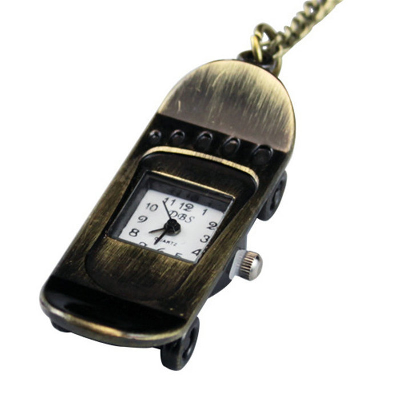 Women Vintage Cellphone Design Quartz Pendant Pocket Watches Necklace Men Antique Cute Bronze Cartoon Gift - zhongqi yi's store