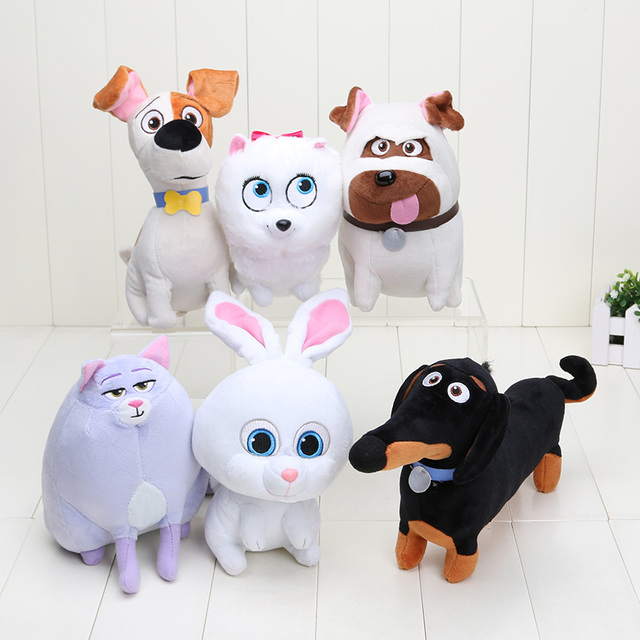 15-26cm 6Styles The Secret Life of Pets Plush Toys Dogs & Cats & Rabbits Animal Dolls