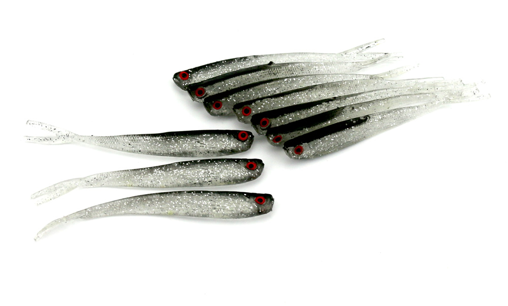 Pesca 100Pcs 100mm 4g Soft Fishing Lure Tiddler Baits Lures Fishing Tackle<br><br>Aliexpress