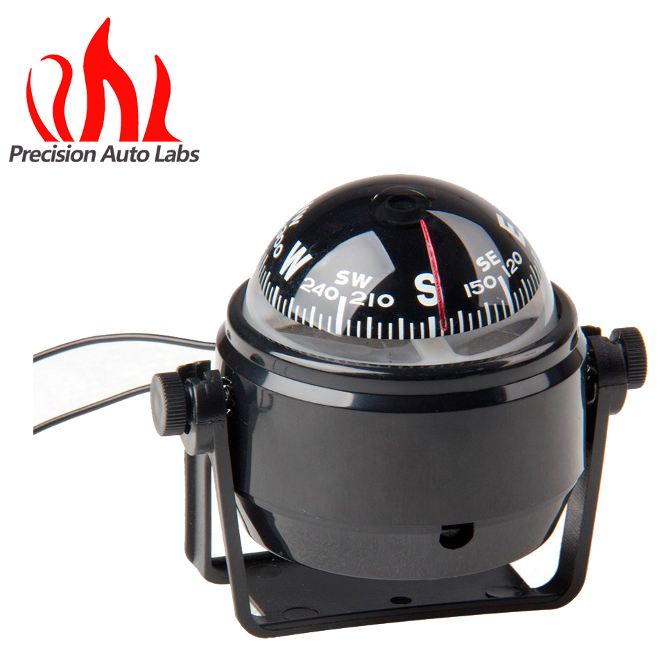 10X9cm Black ABS Macromolecule Plastic LED Light Digital Compass Magnetic Sphere Marine Military Electronic Boat Car Compass