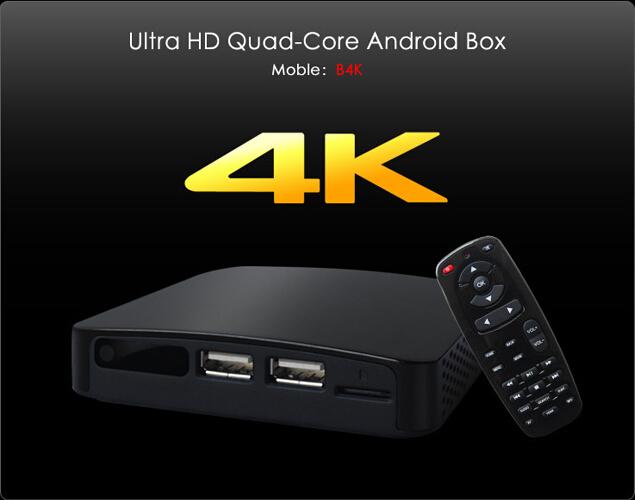 Measy B4K Quad Core Android TV Box Mini PC Webcam Camera 3D Blue-ray HDMI Media Player Allwinner A31 Quad core 4K Ultra HD(China (Mainland))