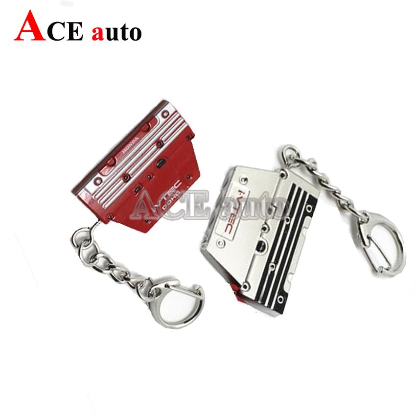 ACE-Aluminum For Honda Style K20 Series Engine Valve Cover Keychain Keyring JDM VTEC TypeR(China (Mainland))
