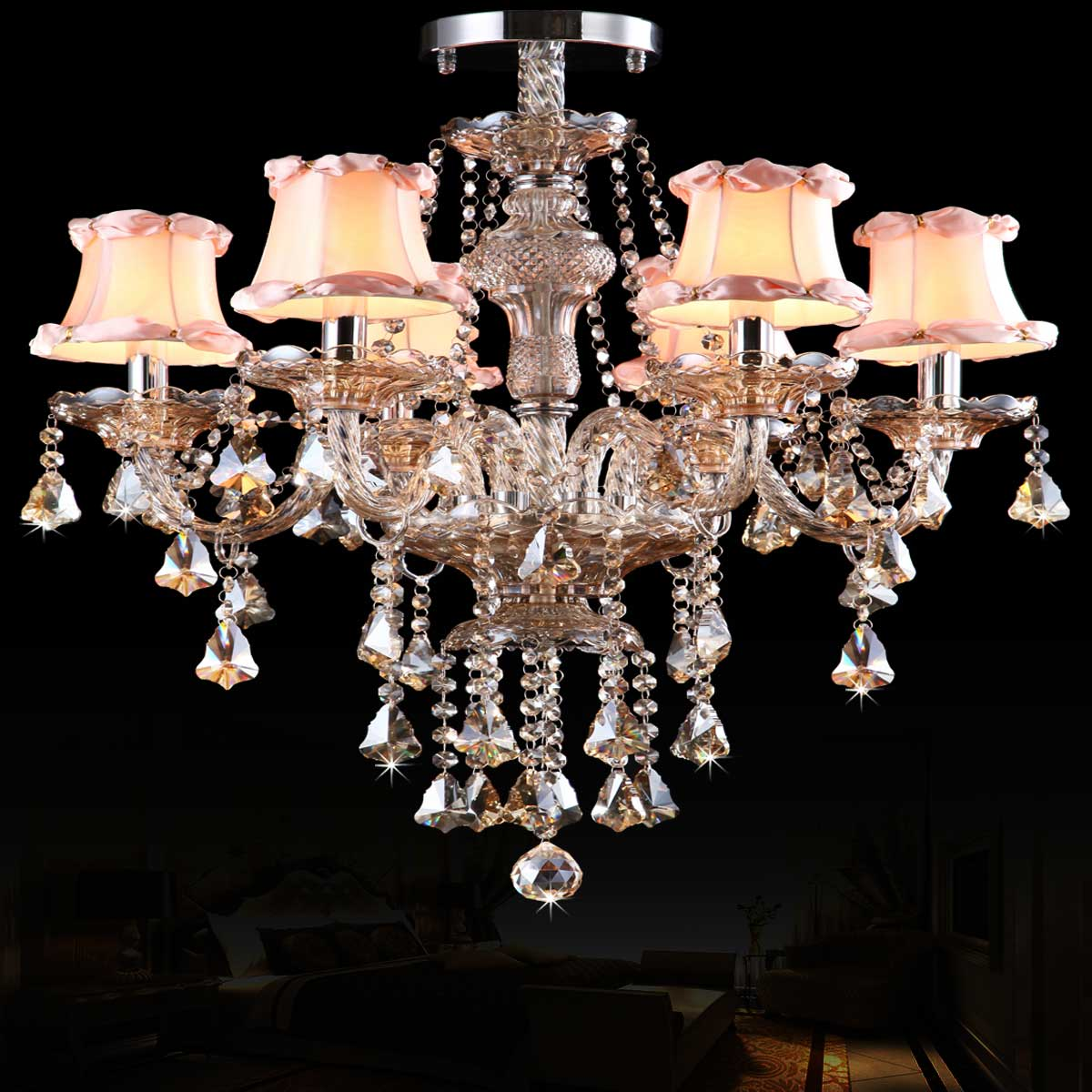 buy crystal ceiling chandelier living room bedroom