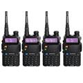 4 PCS BAOFENG UV 5R Walkie Talkie black dual band VHF UHF 136 174 400 520MHz
