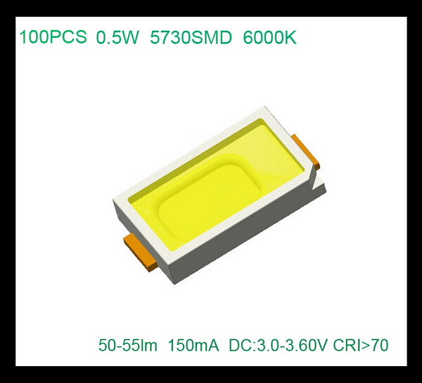 Good quality led 0.5w cool white smd 5730 50-55lm light bead 10 - SHENZHEN YOUXINGUANG TECHNOLOGY CO, LTD store