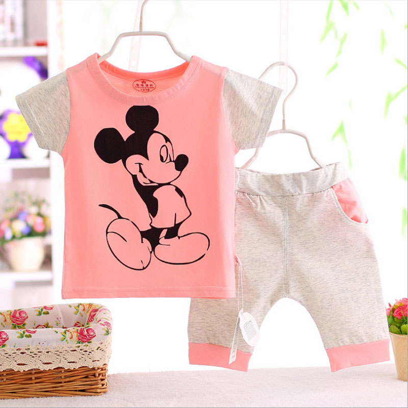 2016 summer child clothing infant baby boy girls sports suit for little baby outfit casual short sleeve brand cotton clothes set
