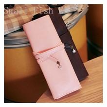 Romatic Cherry Blossoms Simple Elegant Women PU Pen Bag Case Long Handbag Wallet Coin Purse school office supplies(China (Mainland))